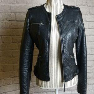 XOXO Faux Leather Jacket Sz S Women's